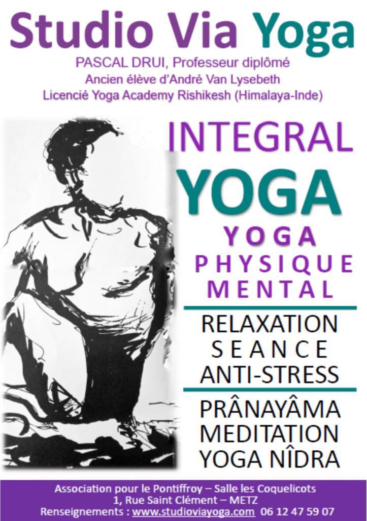 Integral Yoga - Pascal DRUI avec l'Association pour le Pontiffroy